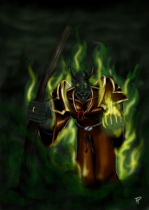 Orc Warlock by TerrenceP on DeviantArt