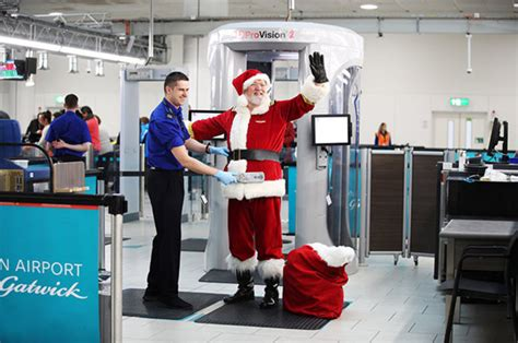 Santa Claus STOPPED by security at London Gatwick airport