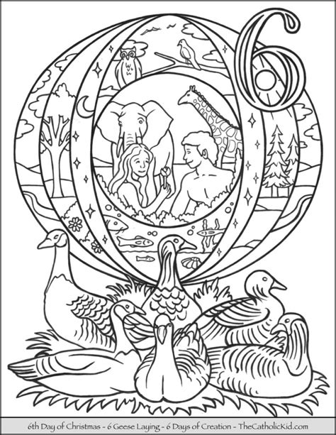12 Days of Christmas Coloring Pages - TheCatholicKid