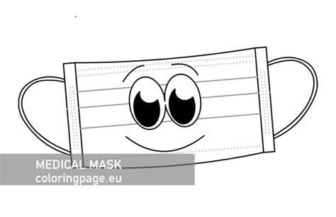 Medical Face Mask printable – Coloring Page
