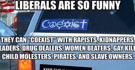 HILARIOUS: Why Leftist 'Coexist' Slogan Is Completely STUPID