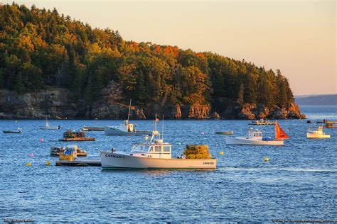Bar Harbor, Maine Lobster Boats in Autumn