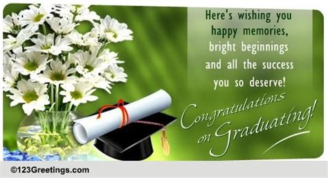 Your Hard Work Has Blossomed! Free Congratulations eCards