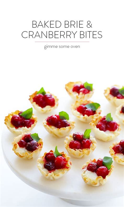 Super-Easy Cranberry Baked Brie Bites   Recipe   Brie