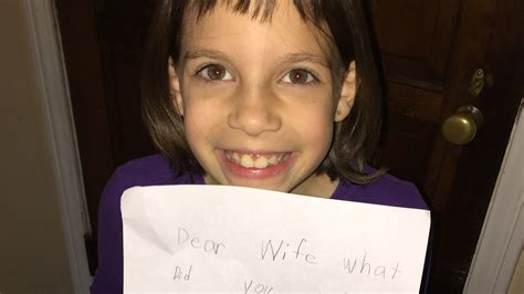 'Dear wife': Little girl writes funny note impersonating
