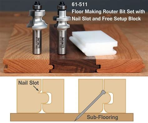 Tongue and Groove Flooring Bits - Infinity Tools