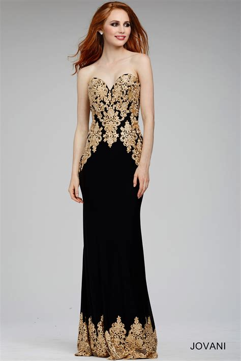 Black And Gold Dress - Dress Ty