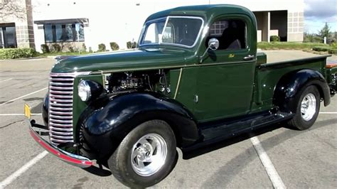 1939 Chevy Hot Rod Pickup and Vintage Allstate Trailer on