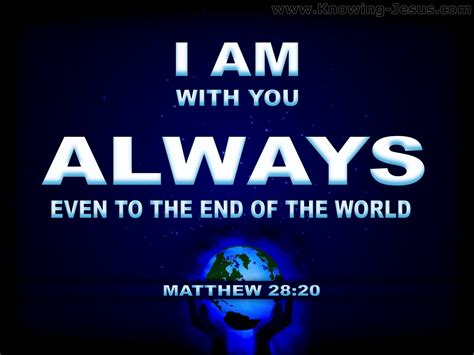 What Does Matthew 28:20 Mean?