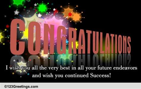 Wish You Continued Success! Free Promotion eCards