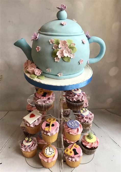 Pink Blossom Teapot Cake | The Dotty Bakery