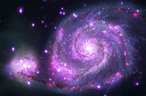 APOD: 2014 June 10 - M51: X Rays from the Whirlpool
