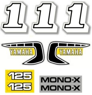 1981 YZ125H Value Logo Decal Kit   YZdecals