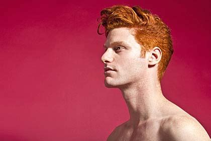 Artist Thomas Knights goes Red Hot ginger in mind-shifting